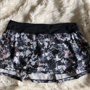 LULULEMON pace rival floral skirt